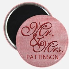 Personalized Family Name Mr and Mrs Magnet