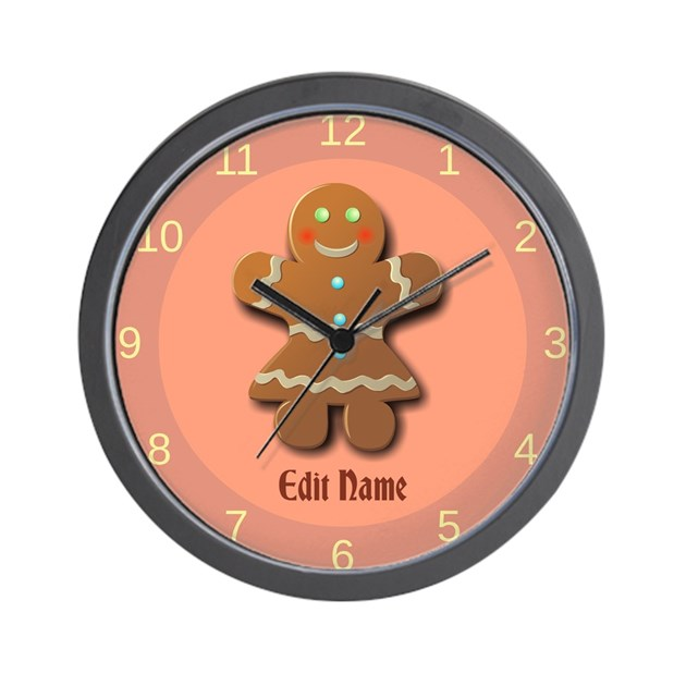 Custom Gingerbread Cookie Wall Clock by XmasMall