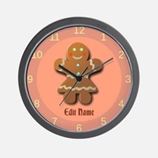Custom Gingerbread Cookie Wall Clock
