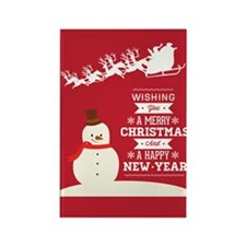 Merry Christmas Happy New Year Rectangle Magnet