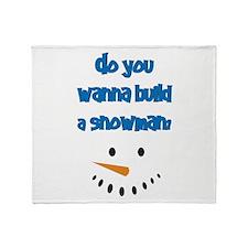 Do You Wanna Build A Snowman? Throw Blanket