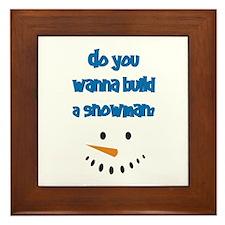 Do You Wanna Build A Snowman? Framed Tile