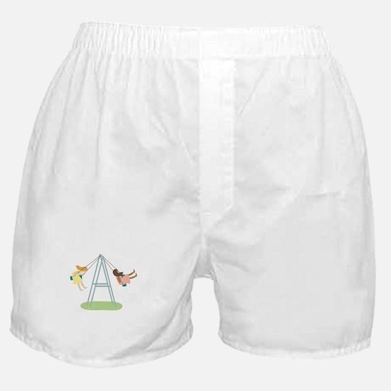 Kids Playground Swing Set Boxer Shorts