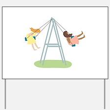 Kids Playground Swing Set Yard Sign