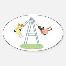 Kids Playground Swing Set Decal