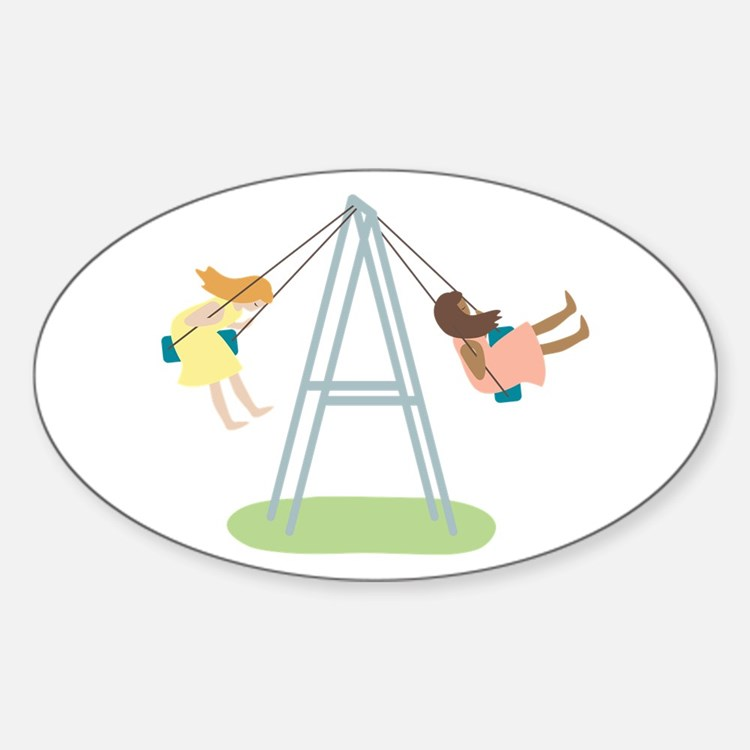 Kids Playground Swing Set Decal