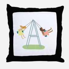 Kids Playground Swing Set Throw Pillow