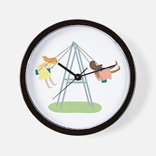 Kids Playground Swing Set Wall Clock