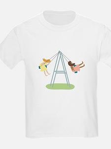 Kids Playground Swing Set T-Shirt