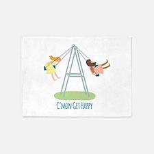 Swing Set Get Happy 5'x7'Area Rug