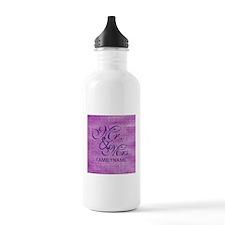Purple Magenta Csutom Water Bottle