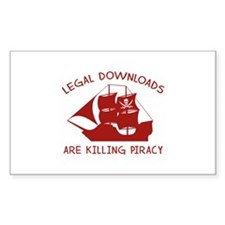 Legal Downloads Are Killing Piracy Decal