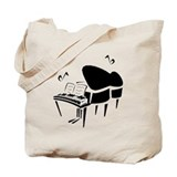 Music piano Canvas Bags