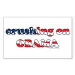 Crushing on Obama Rectangle Sticker