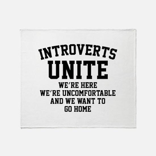 Introverts Unite Stadium Blanket