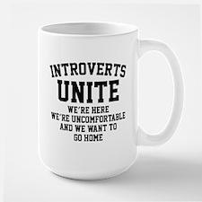 Introverts Unite Ceramic Mugs