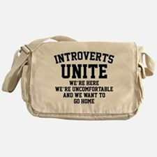 Introverts Unite Messenger Bag