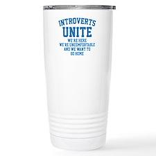 Introverts Unite Ceramic Travel Mug
