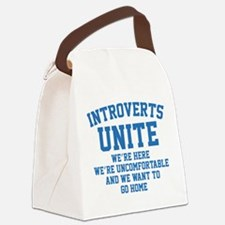 Introverts Unite Canvas Lunch Bag