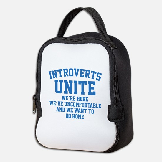 Introverts Unite Neoprene Lunch Bag