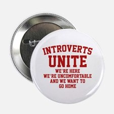 """Introverts Unite 2.25"""" Button (10 pack)"""