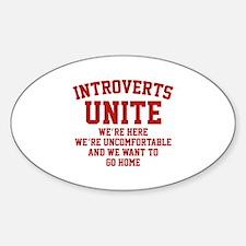 Introverts Unite Bumper Stickers