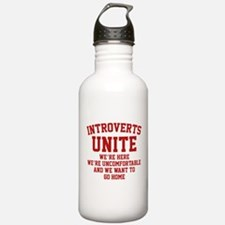 Introverts Unite Sports Water Bottle