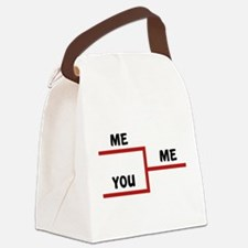 Me VS You Canvas Lunch Bag