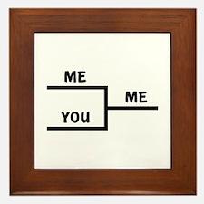 Me VS You Framed Tile