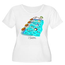I Swim Stick Figure T-Shirt