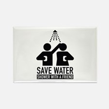 Save Water Shower With A Friend Rectangle Magnet