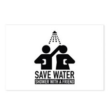 Save Water Shower With A Friend Postcards (Package
