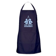 Save Water Shower With A Friend Apron (dark)