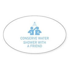 Conserve Water Shower With A Friend Decal