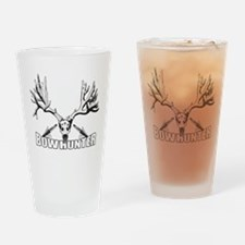Bowhunter buck 14 Drinking Glass