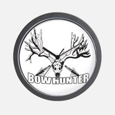 Bowhunter buck 14 Wall Clock