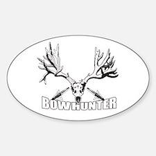Bowhunter buck 14 Sticker (Oval)