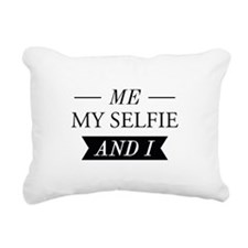 Me My Selfie And I Rectangular Canvas Pillow