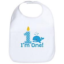 First Birthday Whale Bib