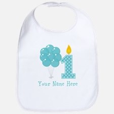 First Birthday Boy Balloons Bib