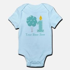 First Birthday Boy Balloons Body Suit
