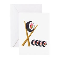 Sushi Rolls Greeting Cards