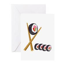 Sushi Rolls Greeting Cards