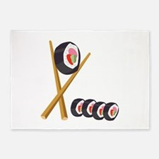 Sushi Rolls 5'x7'Area Rug