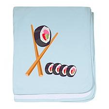 Sushi Rolls baby blanket