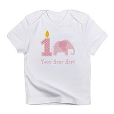First Birthday Girl Elephant Infant T-Shirt