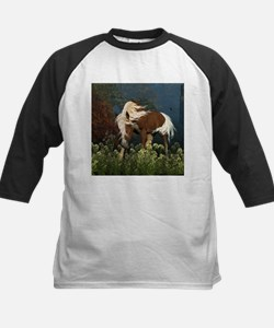 Curious Horse on a meadow Baseball Jersey