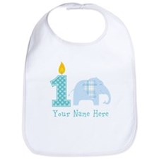 First Birthday Boy Elephant Bib