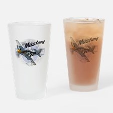 P51 Mustang Drinking Glass