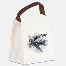 P51 Mustang Canvas Lunch Bag